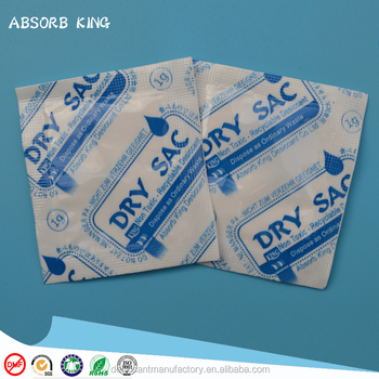 1g 2g 3g 5g clacium chloride desiccant dry sac with PET+TYVEK paper packing