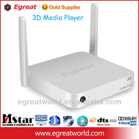 Egreat S3 dual core best android TV box hdd media player 1080p with tv recorder