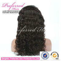 Chinese factory kinky curl 100% virgin remy human hair glueless full lace wig for black women factory price