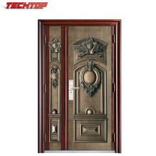 Corrosion protetion copper imitating door entry steel door with main gate design