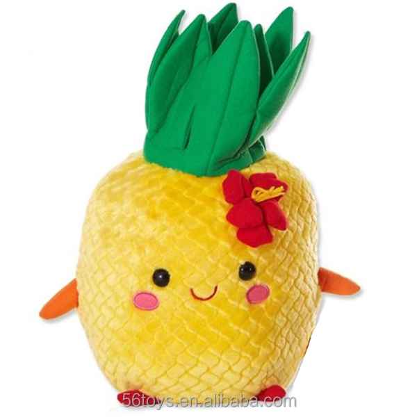 super soft plush fruit custom stuffed pineapple toys