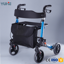 elderly walking cart with wheel and seat