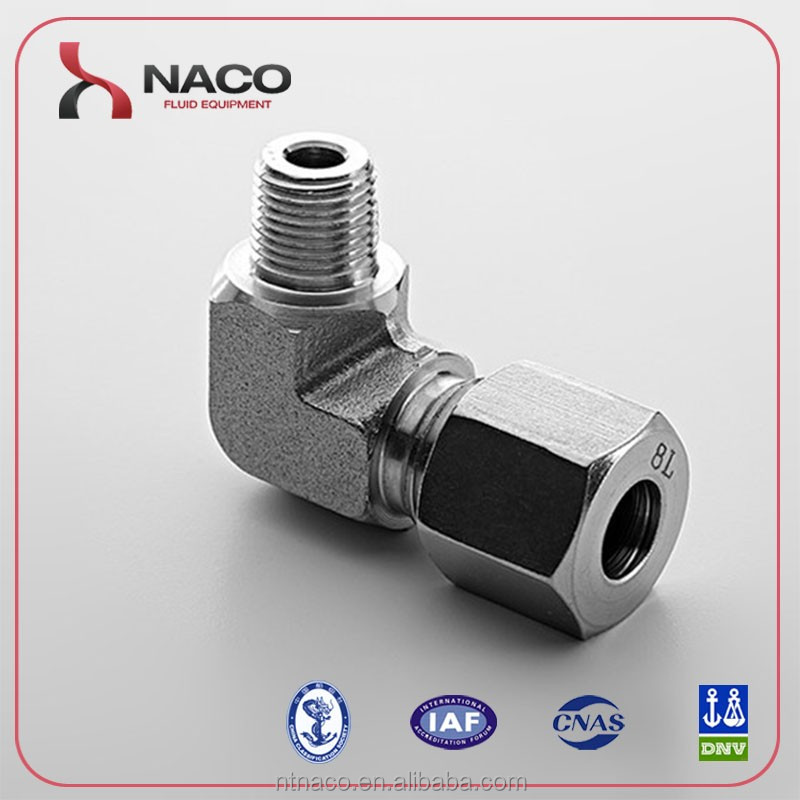 stainless steel 316L male elbow reducing fitting from China Supplier