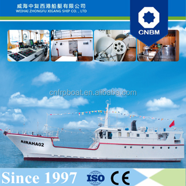 CE Certification and Fiberglass Hull Material 30.2m 99ft Deep Sea Tuna Longline Fishing Vessels Container Ship for Sale