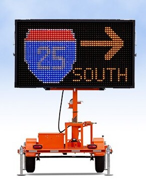 Australian Solar Led Sign For Traffic Management, Outdoor VMS Trailer For Traffic Signal