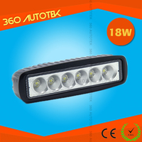 LED Work Light Bar For Car and Motorcycle, Auto accessories 18w LED Work Light