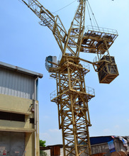10 tons QTD160 Luffing Tower Crane/10 ton luffing travelling tower crane/luffing internal climbing tower crane