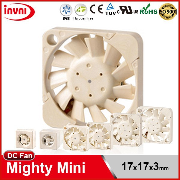 SUNON Mini Maglev 1703 17x3 17mm 17x17 17x17x3 Micro Brushless Cooling 3V DC Small Axial Flow Fan 17x17x3mm (UF3H3-500/700)