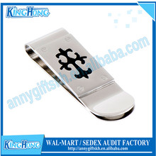 Metal with spring folding masonic money clip