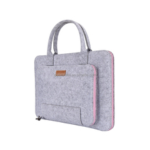 Wholesale Wool Felt Leather Universal Sleeve Zipper Case Bag Laptop Sleeve For Laptop Notebook Computer With Handle