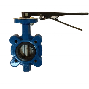 DN50 semi lugged centerline butterfly valve with NBR seat ring