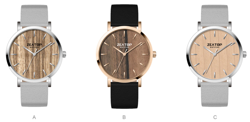 Trend Design Couple Sizes Natural Wooden Dial Men and Women Stainless Steel Wood Watch