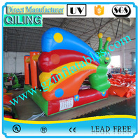 2016 QiLing factory price funny butterfly inflatable mini indoor bouncer for kids