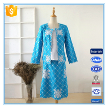 High Quality Embroidery Blue Color Fancy Designer Ladies Office Skirt Suits