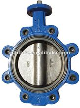 lug butterfly valve with renewable seat
