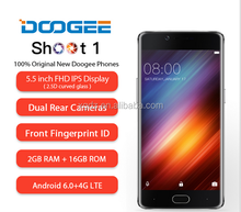 Doogee Shoot 1 Dual Rear Camera Fingerprint Mobile Phone 5.5 Inch FHD MTK6737T Quad Core Android 6.0 2GB+16GB 13MP 4G Smartphone