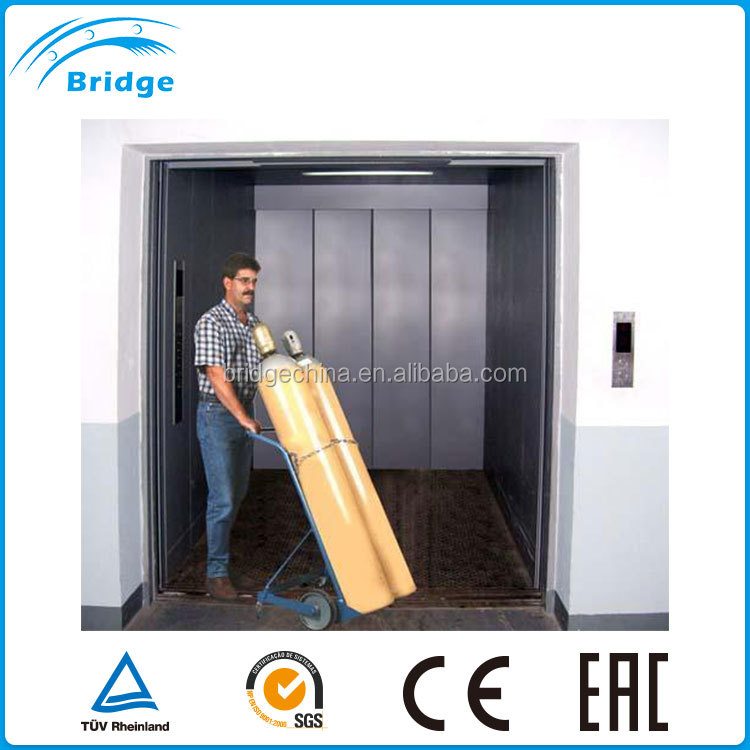 stable big capacity electric platform warehouse cargo lift