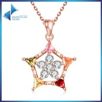 JYSZN0243 rose gold plated necklace crystal jewelry