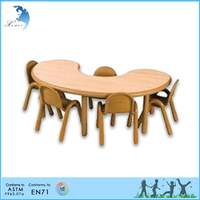 High quality furniture Montessori plywood Student desk and chair