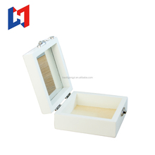 Trade assurance small delicate square unfinished custom gift wooden jewelry box