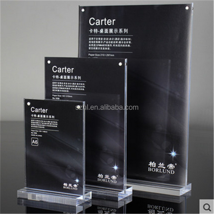 2015 New High Quality Acrylic Countertop Display Stand, Acrylic Sign Holder Menu holder Wholesale