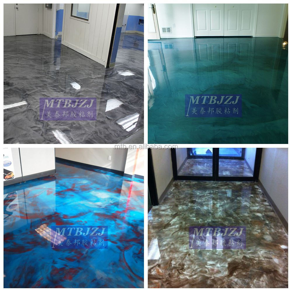 Metalic Epoxy Resin for Foor Coating, Epoxy Primer, Clear Epoxy for Top Coat