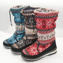 Russian winter woman wool snow lady boot