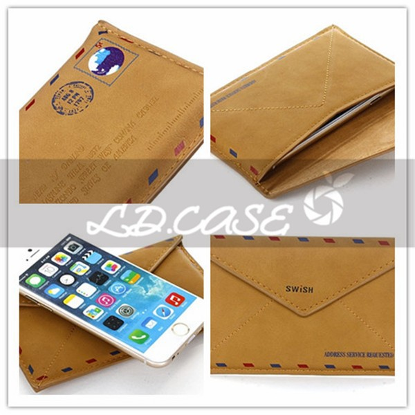 Original RICH BOSS Stand Holder Wallet Flip Genuine Leather Case For Iphone 6