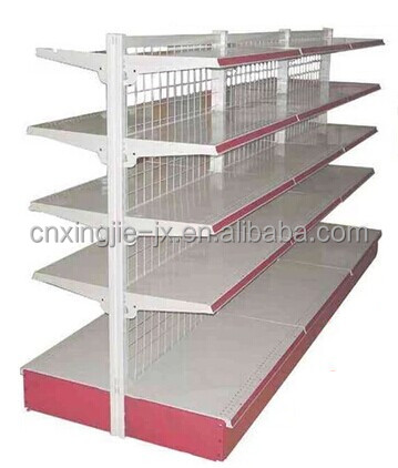 Hot Selling Supermarket Multi Layers metallic supermarket shelf