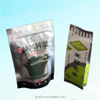 Customized print standing pouch tea bag packing with zipper