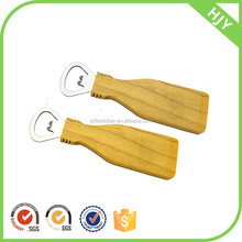 high quality long duration time Wooden handle magnetic bottle opener