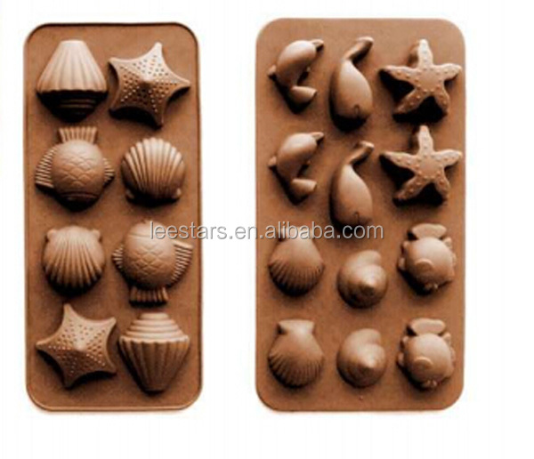 Wholesale Silicone 8-Whelk Ice Cube Tray & ice cream tools &ice cream maker Food grade silicone ice cube tray
