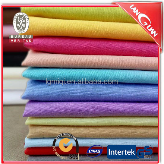 SGS certified Fashionable color dyed cotton poplin