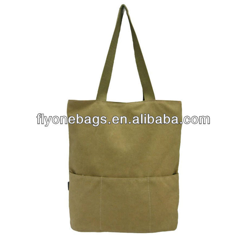 Recyclable RPET canvas shopping bags