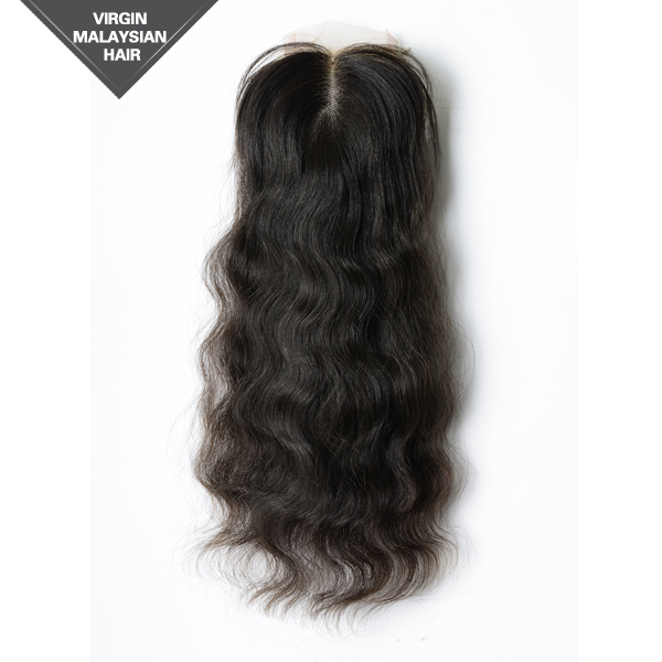 Hand-tied Swiss Lace Wholesale VV Hair 10 Inch 100% Virgin Cuticle Free Parting Lace Closure
