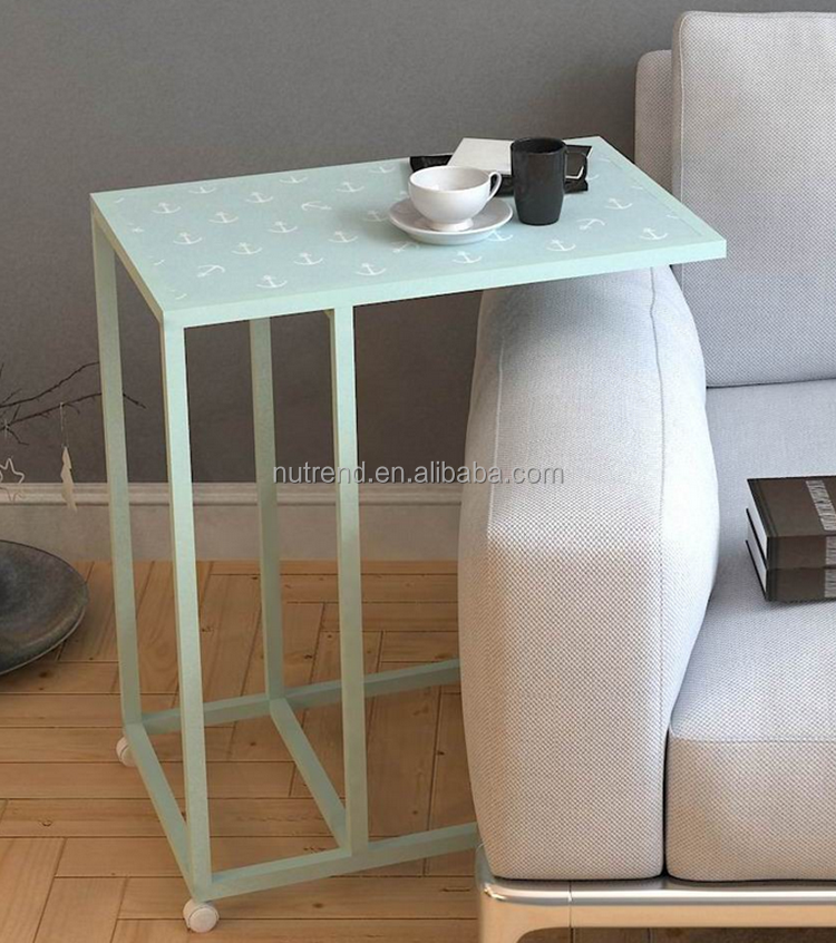 Cheap pattern marking mobile small tea table with wheels