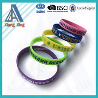 2016 promotional gifts rubber silicon bracelet / custom rubber wrist band / silicon wristband
