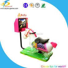 2016 Mini 3D swing racing car/Rushing horse kiddie ride 3D video game machine from China