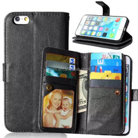 Removable custom design pu leather waterproof cell phone case for iphone 6/6s