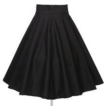 latest design rockabilly clothing women umbrella black full circle pleated <strong>skirts</strong>