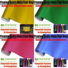 Factory 1.52*20M Colorful Matte Metallic Chrome Vinyl Colors For Cars Wrapping With Air Free Bubbles