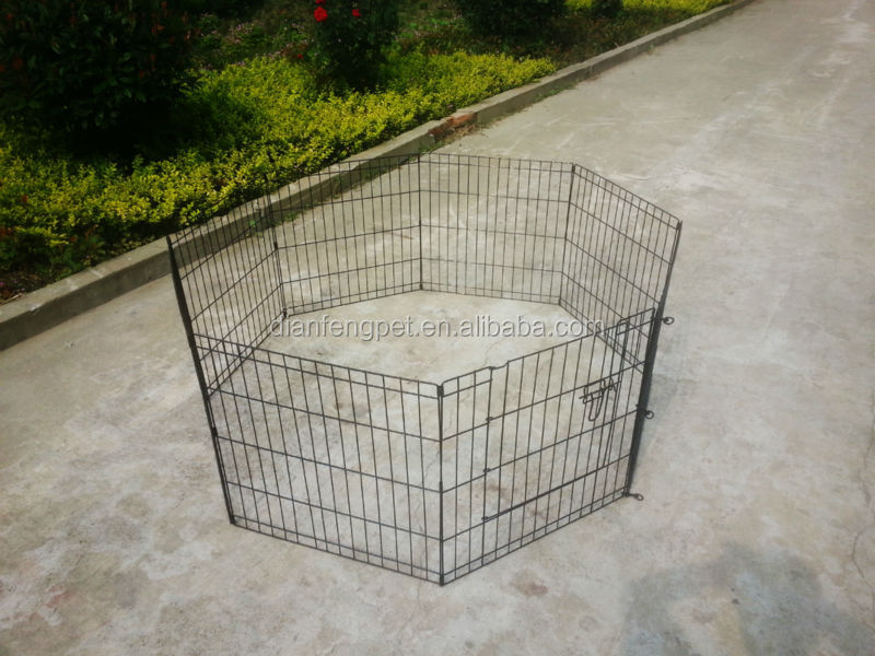 8 pcs metal rabbit dog play pen