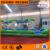 TROPICAL 2 LANE RUN N SPLASH inflatable waterslide