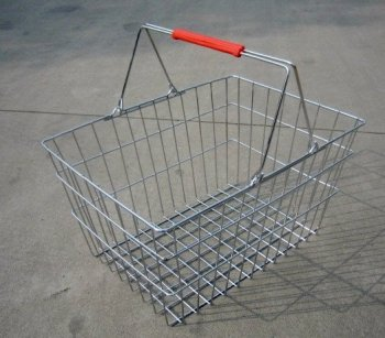 Metal wire small size fruit shopping basket with two handles