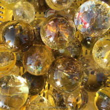 Hot sale natural top quality transparent citrine quartz crystal ball spheres for decoration