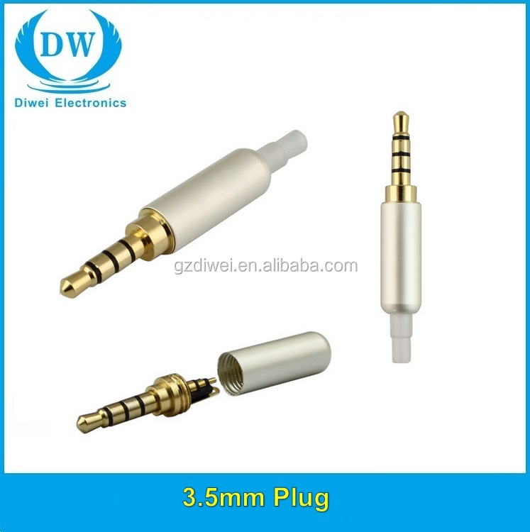 Angled male 3.5mm plug jack 4 pole connector 3.5mm audio jack connector