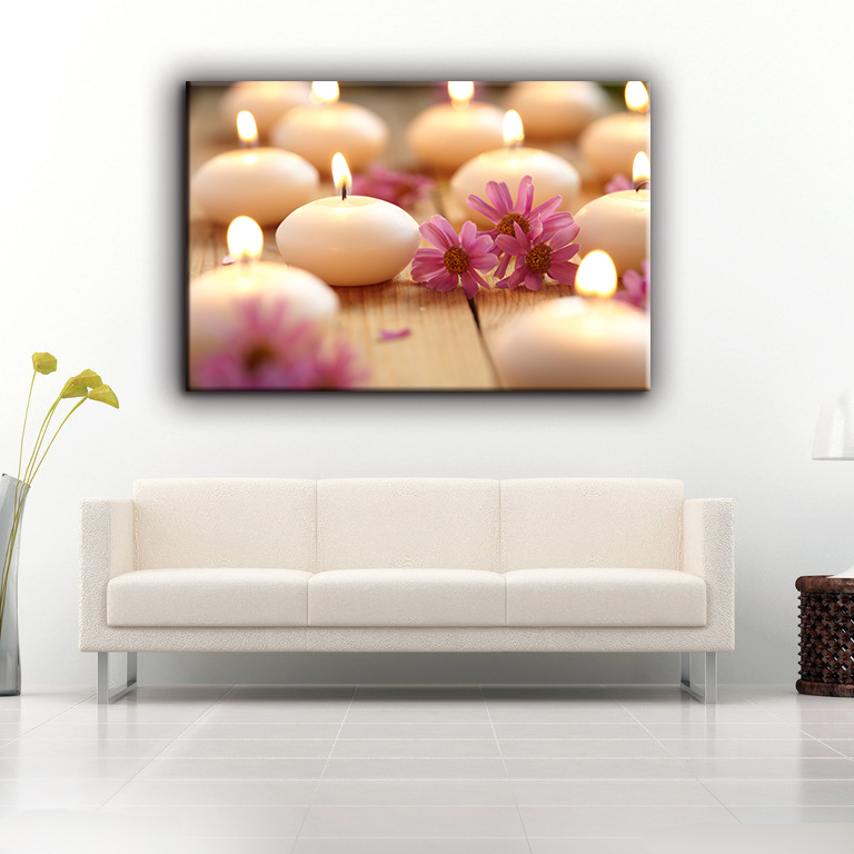 Classic-maxim printed type sample picture LED canvas art painting