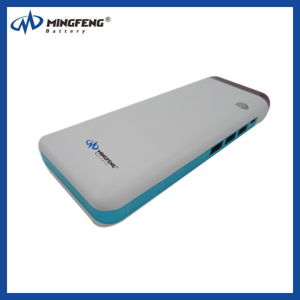 Portable white mobile Power Bank External Battery Charger