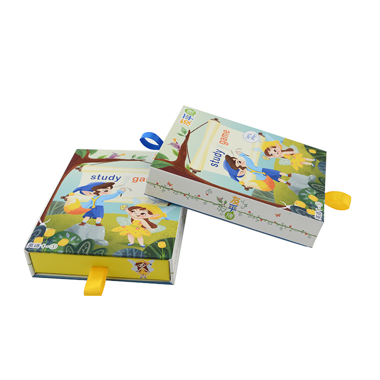 Sliding packaging boxes drawer paper box CD box set packaging for gift