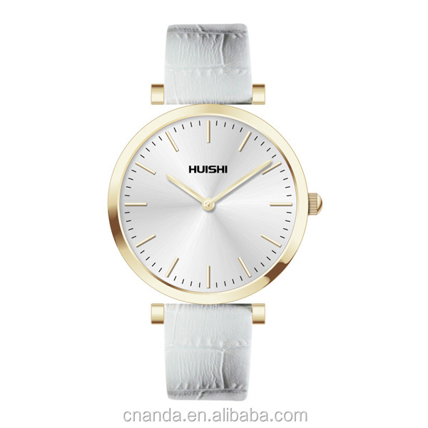 New Geneva Two Tone leather Band Watch for Womens